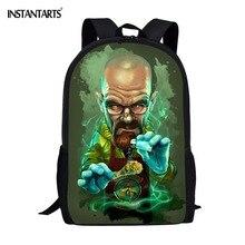 26043d0f67d59 INSTANTARTS Çocuklar Sırt Çantası okul çantası Serin Tasarım Film Karakter  Baskı 3D Çocuk Erkek için Erkek Dizüstü Sırt Çantası .