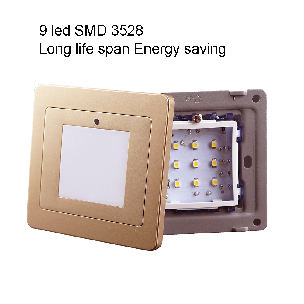 Night lights Led wall light Emergency lamp sensor stairs 1W enegy save SMD 2835 light indoor bulb 2 color warm white IQ 2pcs 2835 7 smd high quality e10 led instrument lights epistar 1w warm white head lamp 12v free shipping