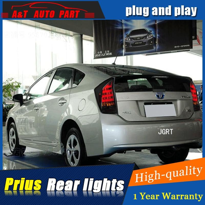 Стайлинга автомобилей Аксессуары для Toyota Приус задние фонари светодиодные задние фары 09-16 для Prius заднего лампы ДРЛ+Тормозная+Парк+сигнала Сид