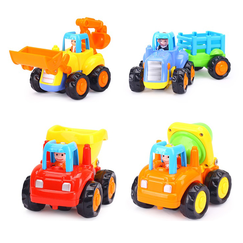 Kids Toys Truck Classic Inertial Car Mini Engineer Vehicle Mixer Tipper Bulldozing Excavator Truck Model Playing Car Toy
