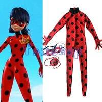 Kids Costumes Miraculous Ladybug Marinette Cosplay Costume Halloween Girls Child Lady Bug Spandex Full Lycra Zentai