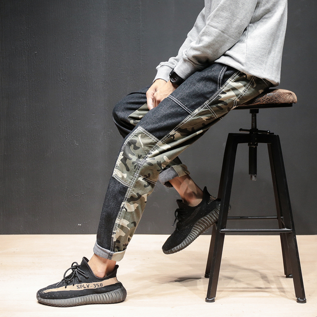 0480c67ad US $30.98 |Top Mens Camouflage Tactical Cargo Pants Men Joggers Boost  Military Casual Cotton Pants Hip Hop Ribbon Male army Trousers 5XL-in Harem  ...