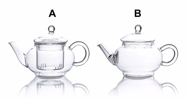 Kinds 220ml Heat Resistant Clear Glass Mini Flower Teapot W/ Infuser
