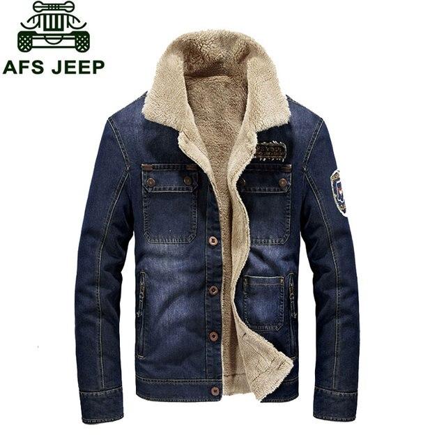 8ff7e96d81ed5 M ~ 3XL nowy ciepły polar kurtki jeansowe męskie dżinsy płaszcze kurtki  zimowe ubrania marki zagęścić