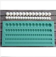 silicone pearls wedding christmas fondant cake decoration mold diy chocolate
