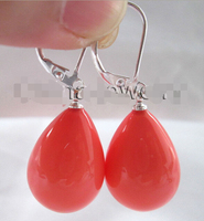 Hot Sale 5PCS Beautiful Drip Pink Coral Color Sea Shell Pearl Earring 925 Silver Hook Top