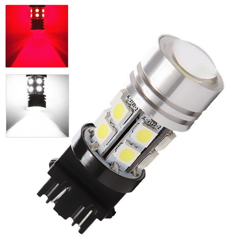3156 3157 Led High Power 12 SMD 5050 Red,White rear brake Lights 5W Bulb Lamp p27/7w led car bulbs Car Light Source 12V