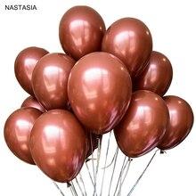 NASTASIA кофе коричневые воздушные шары латексные воздушные шары Globos партии День рождения Свадебные воздушные шарики 12 дюймов качество утолщаются 2,8 г Гелиевый шар