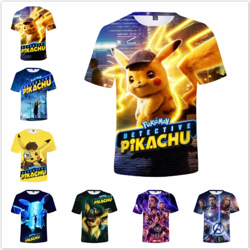 d2203bbb Summer Baby Boys Short Sleeve T Shirts Cartoon Marvel Avengers Pokemon  Print 3D Print TShirt Children