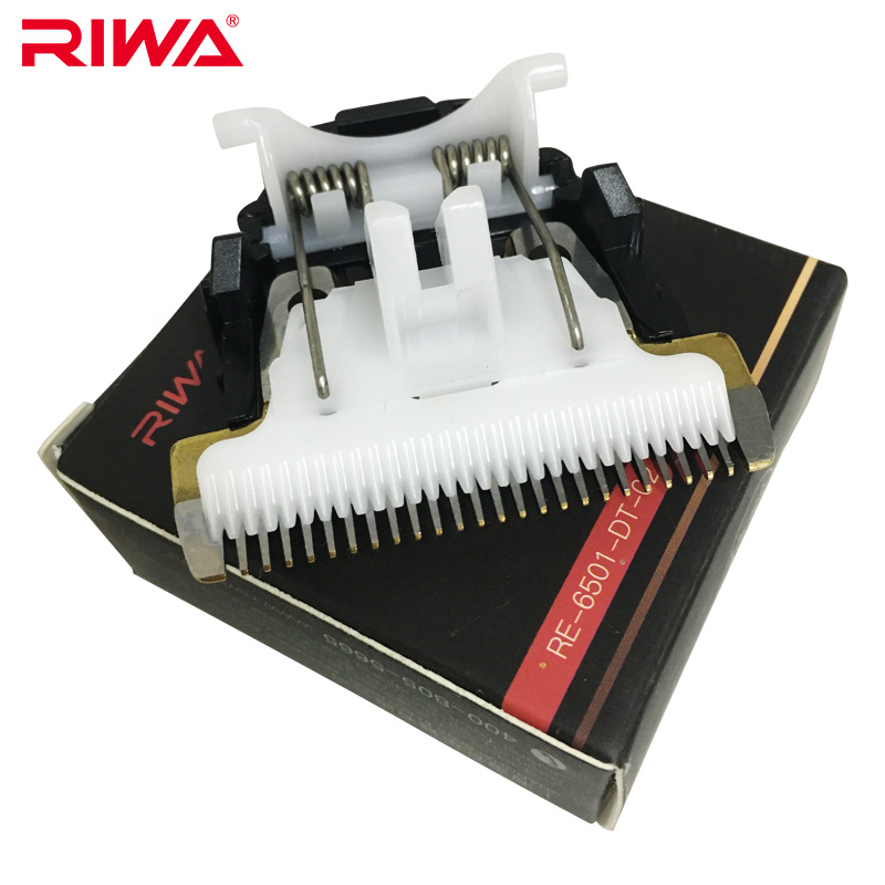 RIWA Hair Clipper Blade Titanium Ceramic Cutter Head Hair Trimmers Accessories For RE-6501