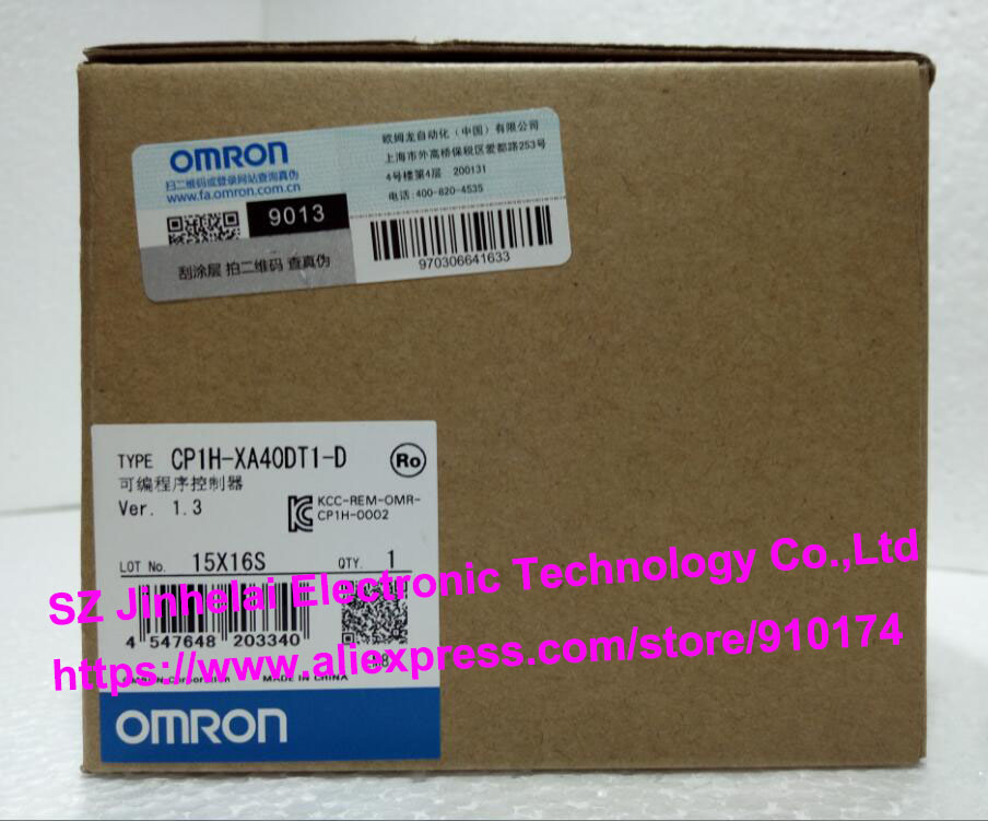 100% New and original CP1H-XA40DT1-D OMRON PLC CONTROLLER [zob] new original omron omron beam photoelectric switch e3jk tr12 c 2m 2pcs lot