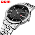 DOM Men Watches Fashion Personality Quartz Watch Leather Belt Vintage Simple Casual Waterproof Wristwatch.M-11D