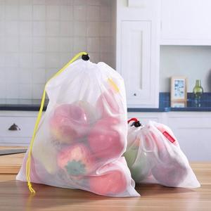 Image 2 - 15 шт., многоразовые сетчатые мешки для хранения продуктов