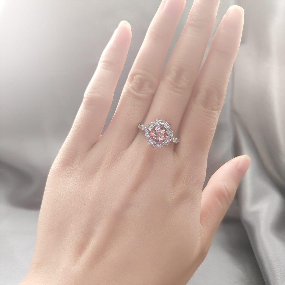 HTB1SzcPKeSSBuNjy0Flq6zBpVXa8 UMCHO Solid Sterling Silver Cushion Morganite Rings for Women Engagement Anniversary Band Pink Gemstone Valentine's Gift