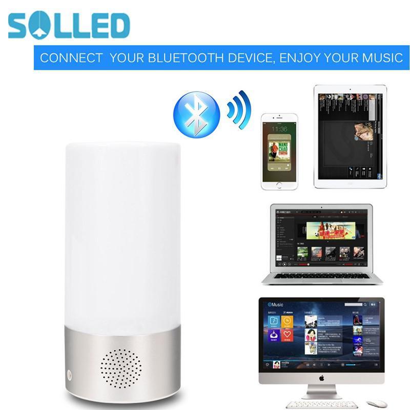 SOLLED настольная лампа, Bluetooth ночники Динамик, Touch Сенсор настольная лампа, смартфон Управление, RGB изменение ...