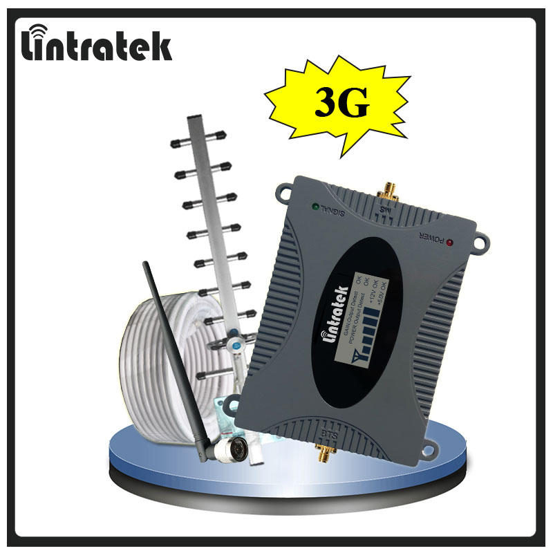 Lintratek 3G Signal Repeater Booster Amplifier UMTS 2100 MHz W CDMA for 3G Phones with LCD