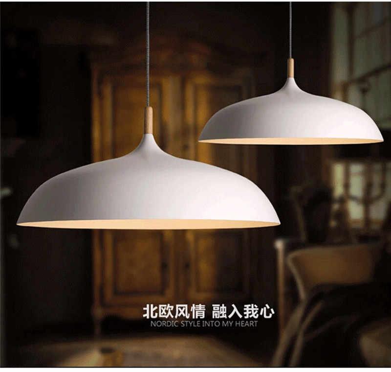 Lámparas colgantes nuevo vintage Loft país americano hierro industrial luces colgantes de madera para cafetería restaurante cocina iluminación