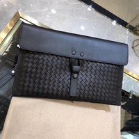 2019 New pattern Genuine leather Cowhide Man Clutch bag Hand knitted Men's handbag High quality Fashion Business bag