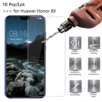 10 Pcs/Lot 2.5D 0.26mm Tempered Glass For Huawei Honor 8X honor8X 6.5 inch Screen Protector protective film For Huawei Honor 8X