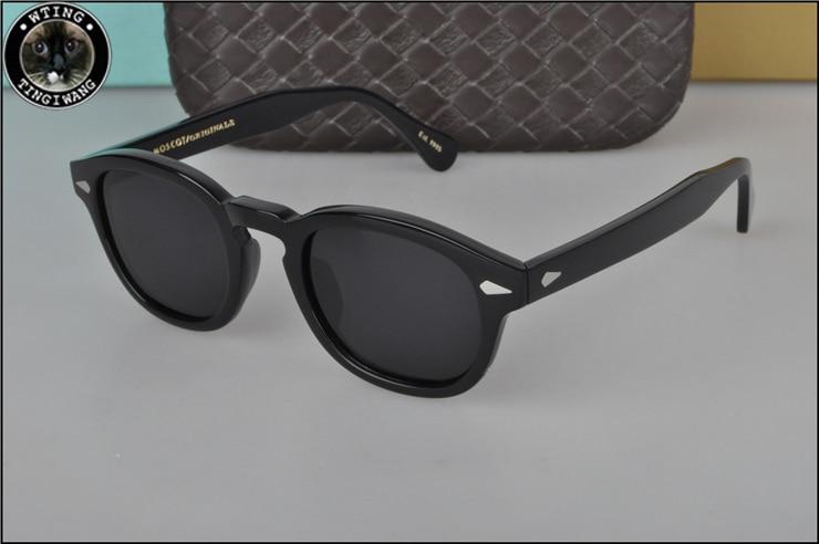 2018 Джонни Депп Круглые Солнцезащитные очки мужские Женская обувь высокого качества ацетат винтажные солнцезащитные очки с поляризуемости ...