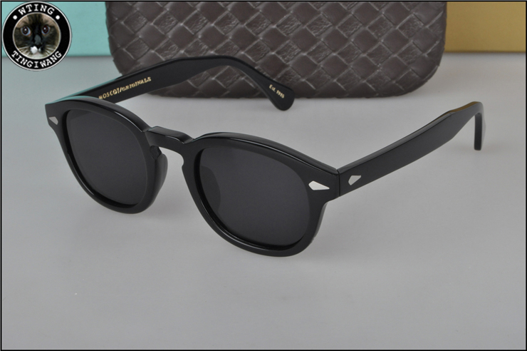 2019 Round Sunglasses men women high quality acetate vintage sun glasses with Polarized lens UV400 Literary retro