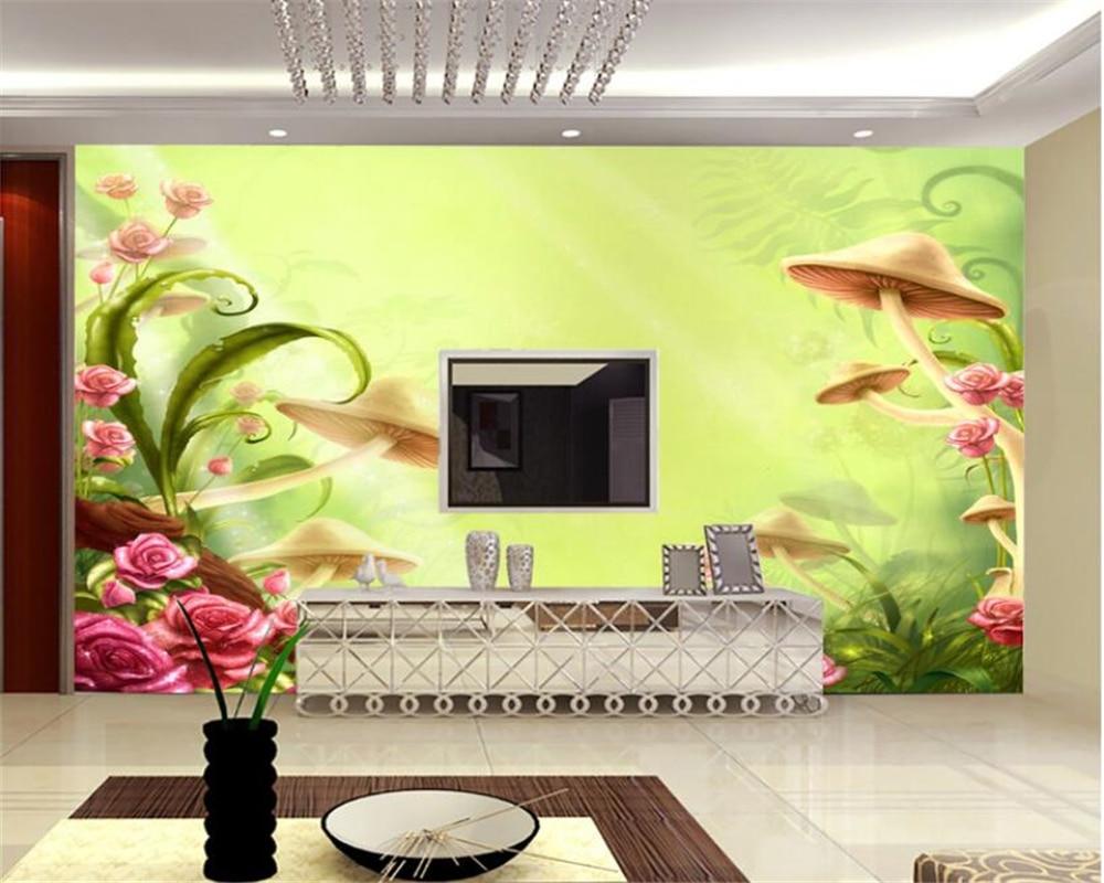 Fantasy Mushroom Flower Flower TV Wall Decorative Painting ...