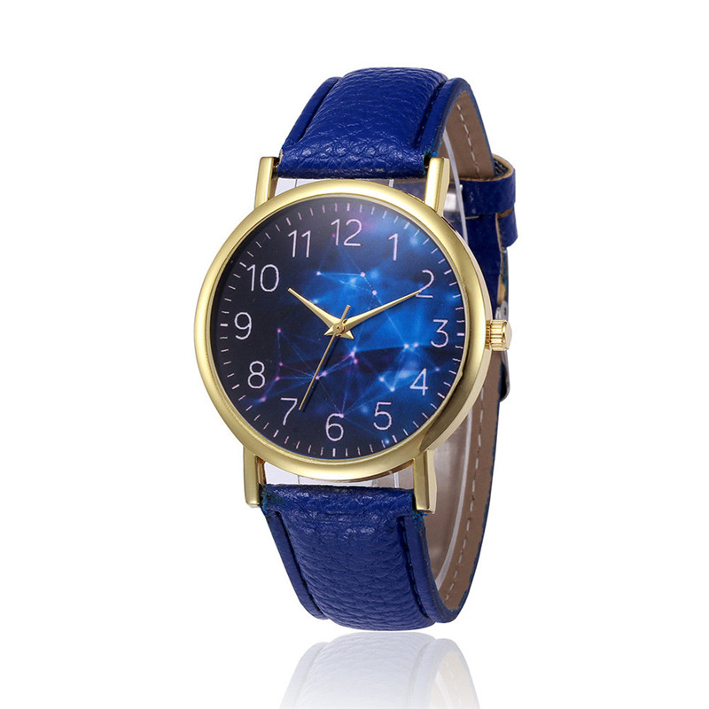 watches women fashion watch 2016 Star Sky Print Retro Design PU Leather Analog Alloy Quartz Wrist Watch wholesale Free shipping new fashion women retro digital dial leather band quartz analog wrist watch watches wholesale 7055