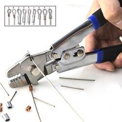 Ze stali nierdzewnej szczypce wędkarskie dla Crimps stali nierdzewnej drutu i monofilament osprzętu gry hak połowów narzędzie do wiązania