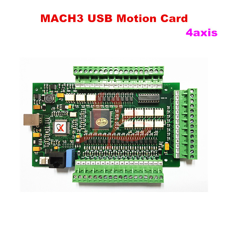 Mach 3 USB motion control card 4 Axis Breakout Board for cnc machine cnc engraving machine for 3d carve6090 mach 3 control system
