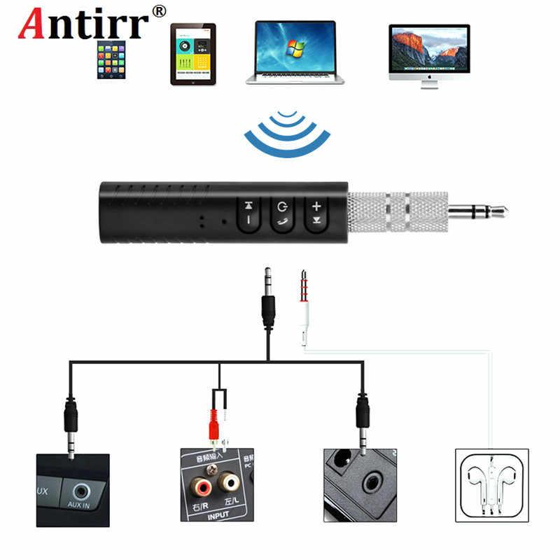 Мини беспроводной Bluetooth автомобильный комплект Hands free Bluetooth 3,5 мм разъем аудио разъем приемник адаптер AUX для динамика наушников