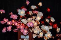 Batterie Typ Blüte mini Rose Zweig Licht 20