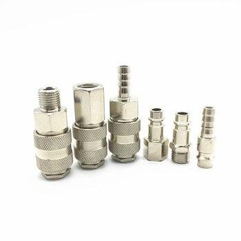 Conector neumático Tipo UE conector de empuje rápido acoplador de alta presión funciona en compresor de aire de alta calidad estándares europeos
