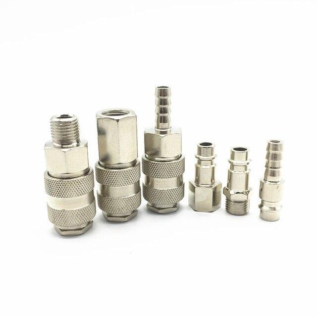 Pneumatische montage EU type Quick push in connector Hoge druk koppeling werk op luchtcompressor Hoogwaardige Europese normen