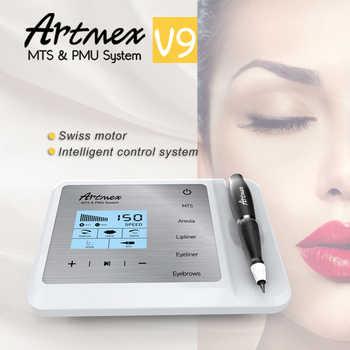 Newest Permanent Makeup Tattoo Machine Artmex V9 Eye Brow Lip Rotary Pen MTS PMU System With V9 Tattoo Needle