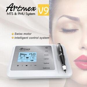 Image 2 - Nieuwste Permanente Make Up Tattoo Machine Artmex V9 Eye Brow Lip Rotary Pen Mts Pmu Systeem Met V9 Tattoo Naald