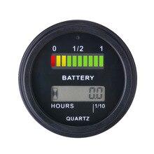قياس البطارية بطارية agm gel فولت متر ساعة مؤشر لدراجة نارية atv جرار آلة التنظيف RL-BI011