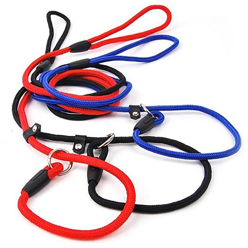 Pet Dog Nylon Rope Training Leash Slip Lead Strap Adjustable Traction Collar 4WLK slip lead keten nylon hond touw training