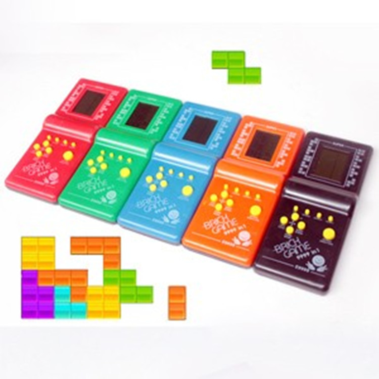 Classic Handheld Game Machine Tetris Brick Game Kids Game Machine With Game Music Playback Without Battery Dorpshipping