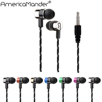 Free Shipping universal mini in-ear sport stereo earphone headphone to ear with mic for samsung xiaomi htc mp3 mp4 mobile phone