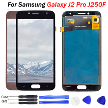 For Samsung Galaxy J2 pro lcd display 2018 J250 J250F J250H LCD Touch Screen Digitizer Assembly TFT LCD with brightness adjust lcd for samsung galaxy j2 pro 2018 j250 j250f sm j250f ds lcd display touch screen digitizer assembly replacement