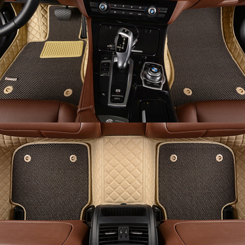 цена на LUNDA Custom fit car floor mats for Porsche Cayenne SUV 911 Cayman Macan Panamera 3D car styling heavy duty carpet floor liner