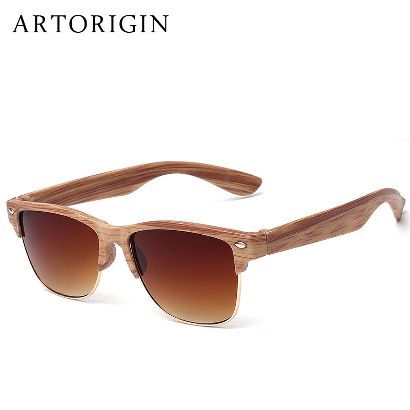 Half Frame Wood Glasses : ARTORIGIN Half Frame Wood Sunglasses Women Men Wooden ...