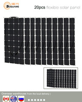 BOGUANG 20*100w 18V flexible durable solar panel high efficiency 32pcs cell 2000w PV kit for RV yard boat 12v battery charger