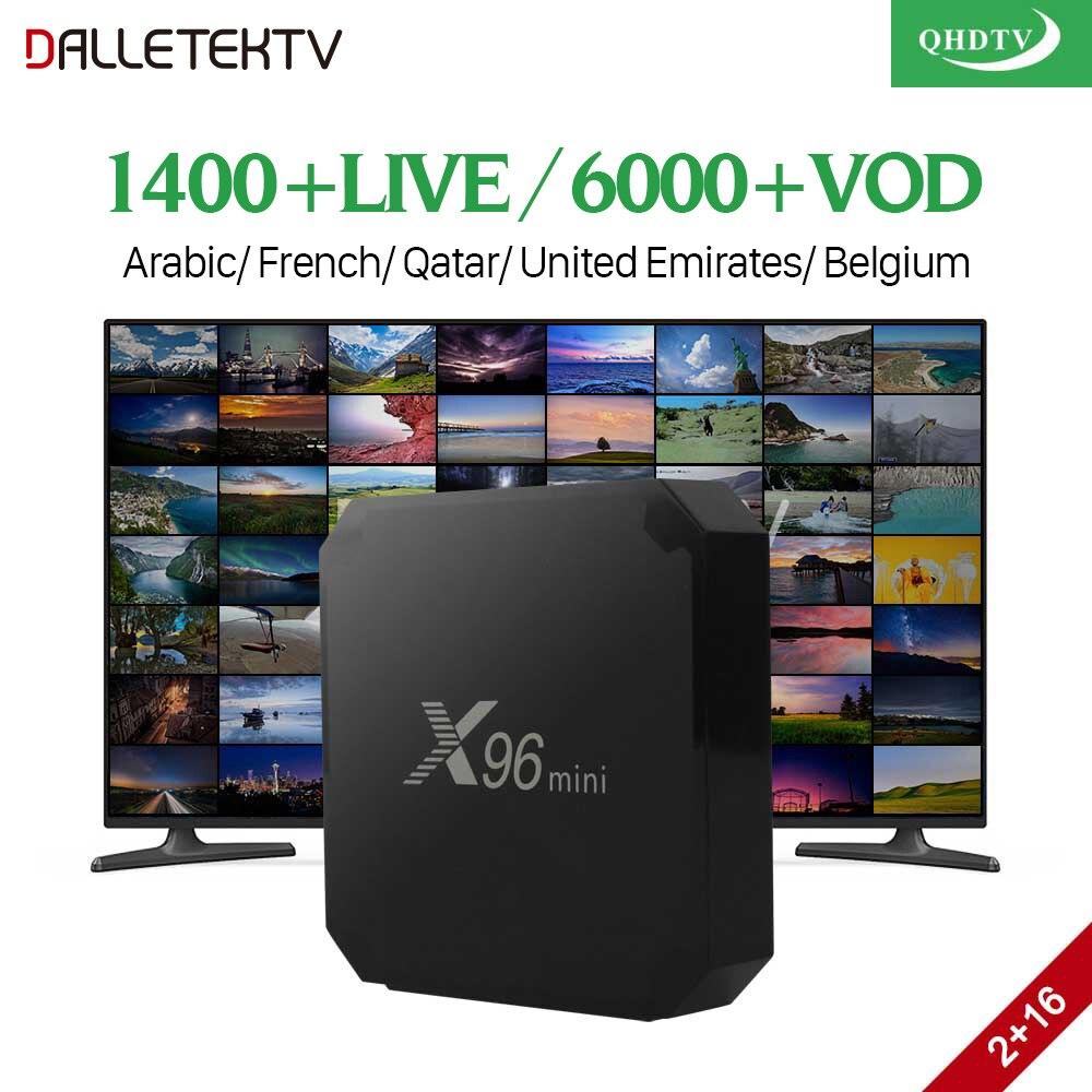 X96 mini IPTV France Box 2G 16G S905W Android 7.1 QHDTV 1 year IPTV Subscription IPTV Arabic Belgium France Dutch IP TV