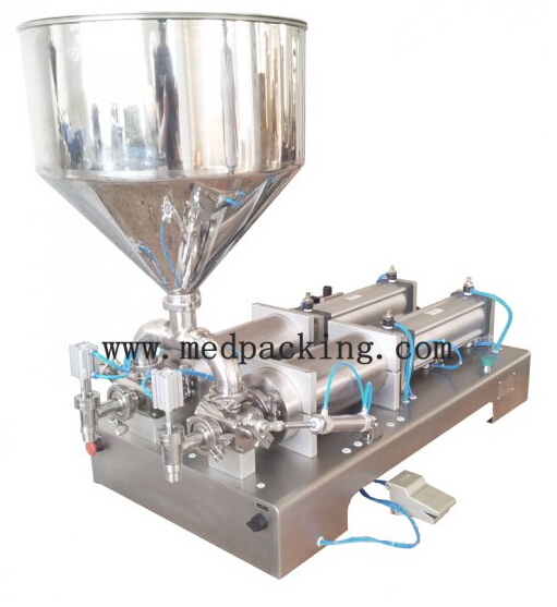 10-300ml double heads Cream Shampoo Cosmetic Automatic Filling Machine 220V/60Hz GRIND