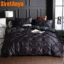 Svetanya satin microfiber Bedding Set Solid Color Duvet Cover and Pillowcase (no sheet) Single double full queen king size