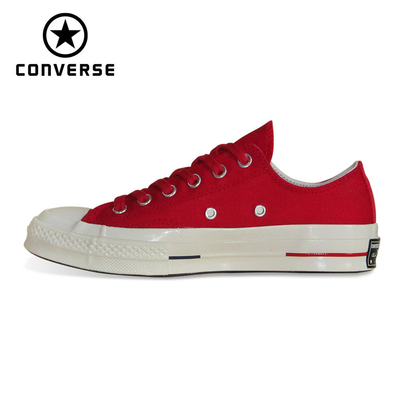 7297eefa54a9 100% original Converse all star Chuck Taylor pu leather canvas shoes men  women sneakers low classic Skateboarding Shoes 132174
