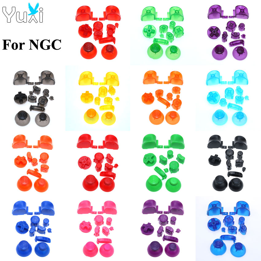 YuXi Analog Stick Cap Buttons Keypads Y X A B Z Buttons Joystick Stick Caps For Nintend Gamecube For NGC Controller