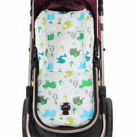 Cute Cartoon Animal Comfortable Baby Stroller Cushion Stroller Seat Thicken Polyester Cotton Stroller Liner Baby Chair