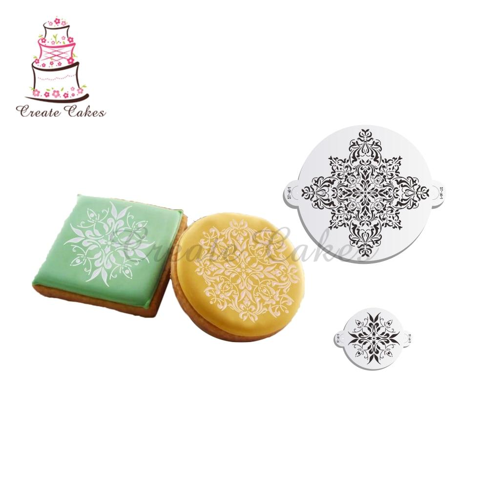 Medallón francés Set Cake plantilla para pastel decoración plástico ...